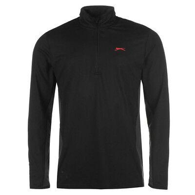 Herren Half Zip Top (Slazenger Herren Trainings Sweatshirt Half Zip Top Pullover M L XL 2XL neu)