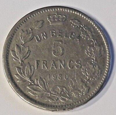 5 francs Albert I 1930 FR pos A Belgique Belgïe