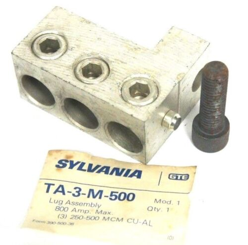 NEW SYLVANIA TA-3-M-500 LUG ASSEMBLY 800 AMP MAX TA3M500