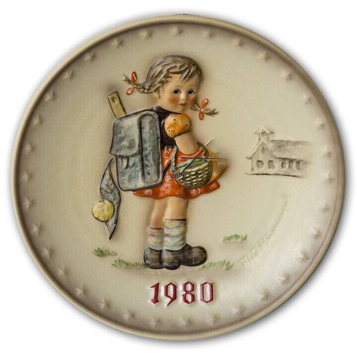 Goebel MJ Hummel Annual Plate 1980 School Girl NEW In Original Box