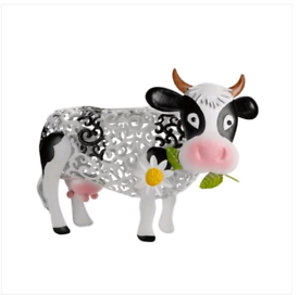 Smart garden solar Daisy the cow silhouette light