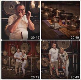 Relaxing GONG BATH with 2 Gong Master Teachers -14Gongs+45 inch Shamanic Drum