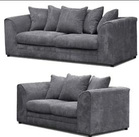 Brand new grey Dylan 3 + 2 sofa on Clearance sale ||