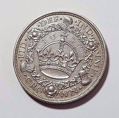 1927 - KING GEORGE V - SILVER - WREATH CROWN - COIN - RARE ENGLISH COIN