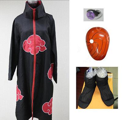 COSPLAY spot goods Naruto kostüm Uchiha Madara cape mask shoes ring CSN016