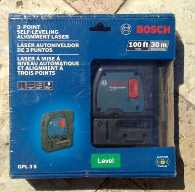 🌟🎈 BOSCH GPL 3 S 100 ft 3-point Self-Leveling Alignment Laser 🌟