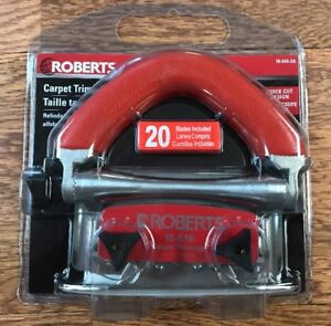 Roberts 10-616-2 Carpet Wall Trimmer Conventional With 20 Free Blades