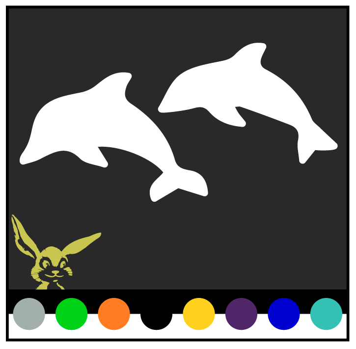 Home Decoration - Dolphin(s) Swimming Vinyl Decal (Pick Color/size) Sticker ocean beach Dolfin