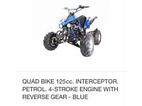 125 interceptor quad for sale £400ono