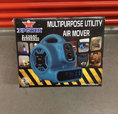 Xpower P-230at Multipurpose Air Mover Portable Carpet Dryer Floor Fan Blower