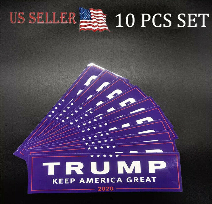 10PCS Donald Trump Keep America Great 2020 President Decal Sticker Make Again US