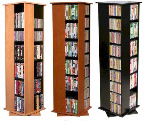 612 CD 288 DVD Floor Spinner Storage Tower Rack - NEW