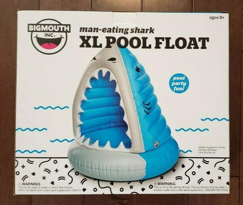 Giant Shark XL Pool Float Inflatable Vinyl Summer Beach Toy