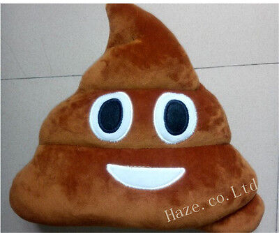Emoji Poo Shaped Stuffed Pillow Cushion Smiley Face Toy Sofa Decoration (Smiley Face Cushion)