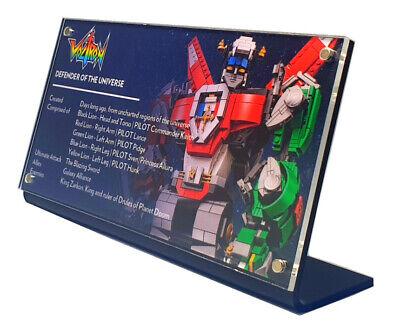 LEGO 21311 Voltron - CUSTOM ACRYLIC DISPLAY STAND