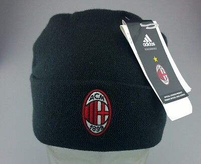 FC AC Milan Beanie Woolie Hat Fleece lined Licensed Product One Size fits Adults