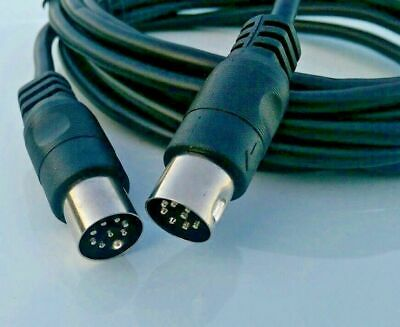 8 PIN Large male to male DIN Speaker wire cable 12 FT Foot