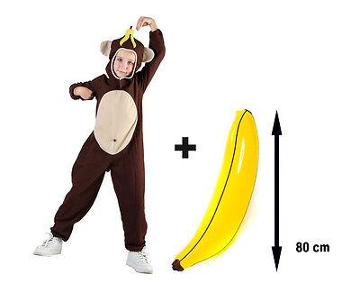 Monkey Chimp Ape Kids Childs Fancy Dress Jungle Zoo Animal Party Costume - Kid Monkey Kostüm