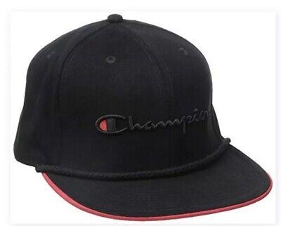 Champion LIFE Black/Red Baseball Snapback Hat