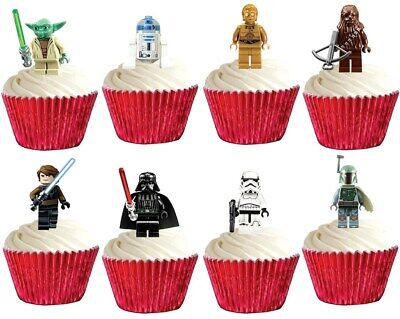 Star Wars Cup Cake Toppers Edible Party Decorations