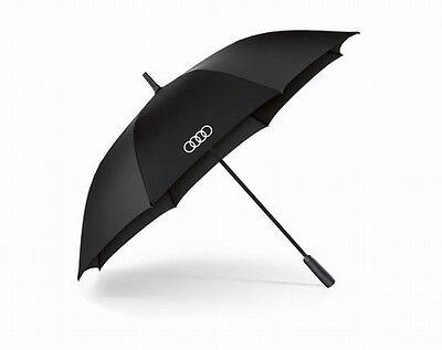 Audi Regenschirm, Audi Stockschirm, Audi Umbrella, Audi Ringe Schirm, schwarz