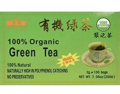 100% Coherent Green Tea (100 tea bags), 100% Natural, USDA CERTIFIED - Royal King