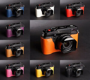 Handmade-Real-Half-Leather-Case-Camera-Case-bag-for-FUJIFILM-X-Pro1-10-colors