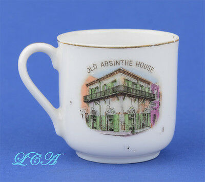 Antique souviner china cup w/depiciton OLD ABSINTHE HOUSE Made In Occupied Japan
