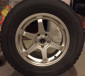 "Excellent Condition - Set of 4 - Toyo 17"" Winter Tires & Rims"