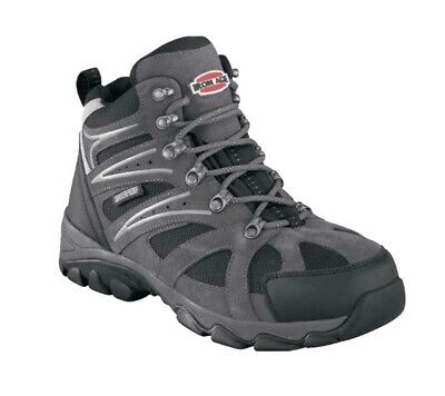 IRON AGE Surveyor Gray Leather Mesh Steel Toe Hiker Work Boots IA5250 Men 8 W