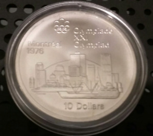 Montreal 1976 $10.00 Silver Olympic Coin