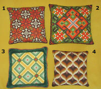 Hand Stitched Pillows Coussins - Bargello Needlepoint Embroidery City of Montréal Greater Montréal Preview