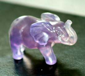 100% natural Amethyst crystal elephant