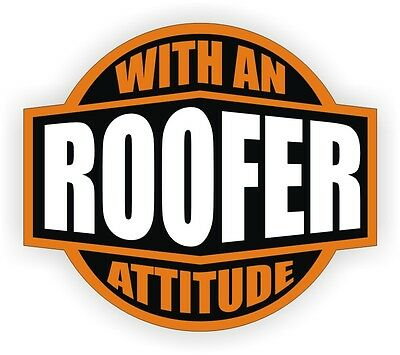 Certified Bad Ass Roofer Hard Hat Decal Helmet Sticker Label Roofing Safety