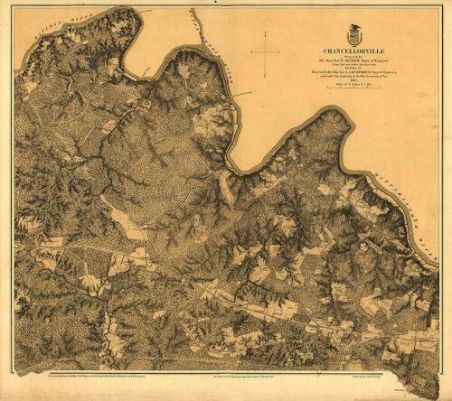 Map of Chancellorville Virginia c1863 27x24