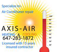 """ AC Repair"" AIR CONDITIONER NOT COOLING 647-283-1872"