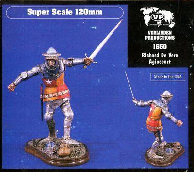 Verlinden 1:16 120mm Richard de Vere Agincourt Resin Figure Kit 1650