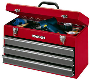 Stack-On RG-920 20-Inch 3-Drawer Portable All Steel Tool Chest