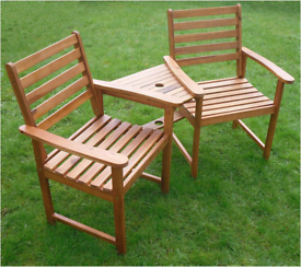 Wooden jack & jill companion love bench seats