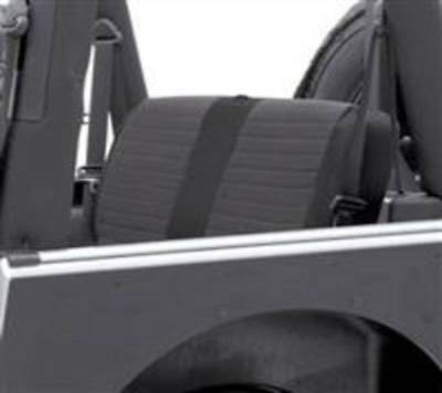 Smittybilt 08-12 Jeep Wrangler JK 4Dr XRC Seat Cover Rear Black Sides Blk Center for sale  Shipping to Canada