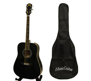 Black acoustic guitar 41 inch full size brand new