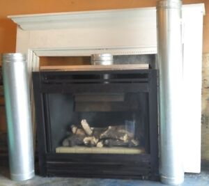 Fireplace NG with pipes, header