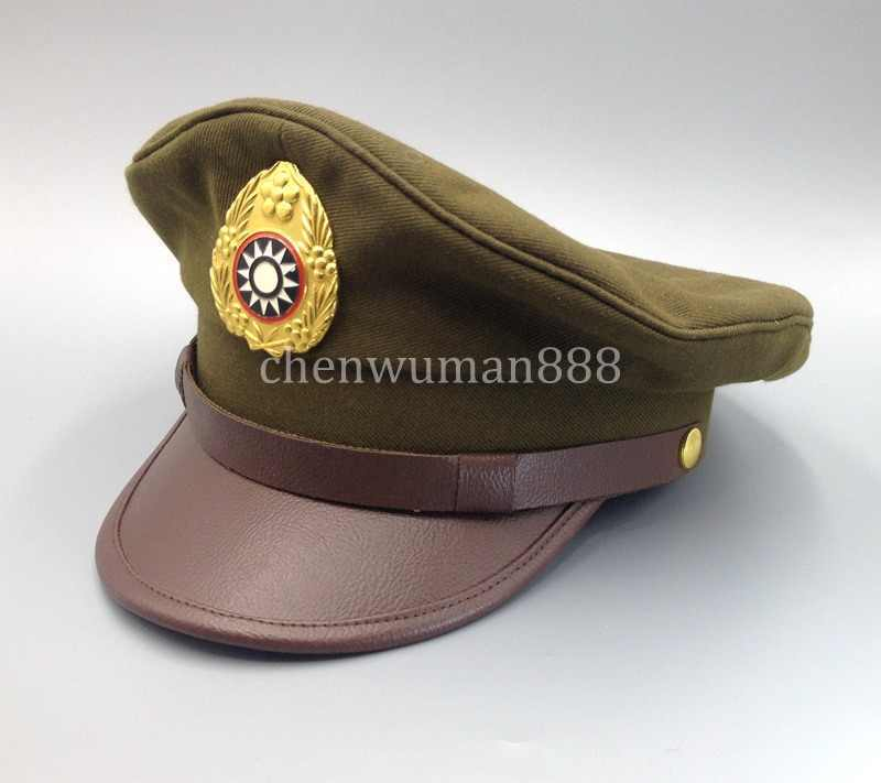 WWII 2 CHINESE NATIONALIST FORCES KMT KUIMINGTANG ARMY SERVICE CAP SIZE XL