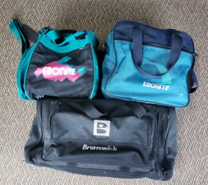 Ebonite and Brunswick Bowling Ball Bags