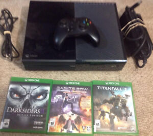 Xbox 1 With Controller and 3 Games