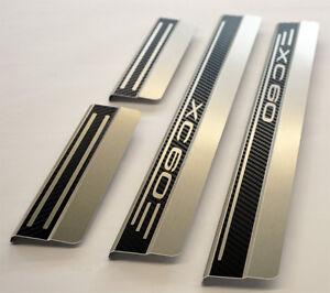 VOLVO XC60 AluNox Carbon Einstiegsleisten mit Abkantung Carbonschicht LOGO XC60