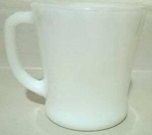 Vintage Anchor Hocking Fire King D Handle Milk Glass Mug