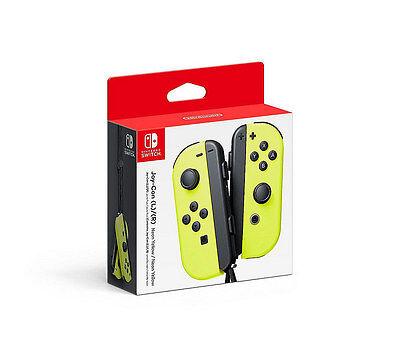 Genuine Nintendo Switch   Joy Con  L R    Neon Yellow   In Retail Packaging