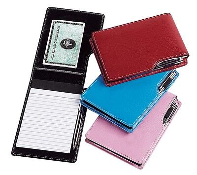 Leather Writing Pen (Travel Hand Mini Leather Writing Notepad Pen Meeting Notes Card Jotter G8355 )