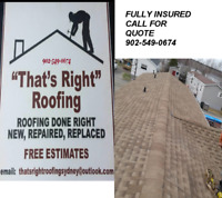 THAT'S RIGHT ROOFING AND RENOVATIONS